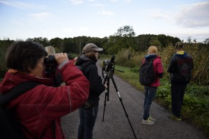 Fem personer deltog i exkursionen